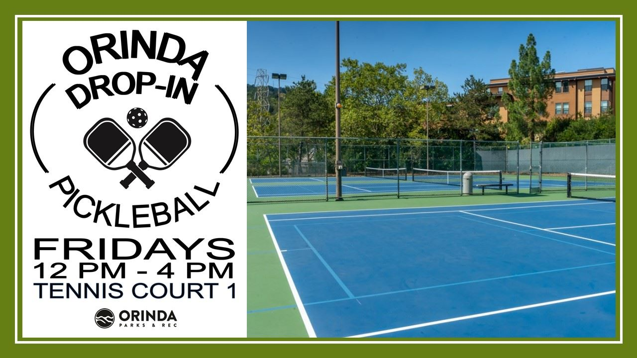 PICKLEBALL DROP-IN Announcing Friday, October 30 from 12pm-4pm